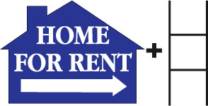 Home for Rent House BLUE print