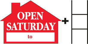 Open Saturday House Red print