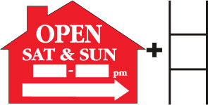 Open Sat and Sun___to___ House Red print