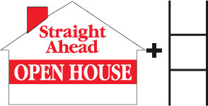 Straight Ahead Open House House Red print