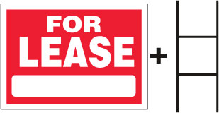FOR LEASE Sign With Stand