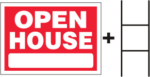 OPEN HOUSE Sign With Stand