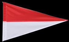 PENNANT RED AND WHITE