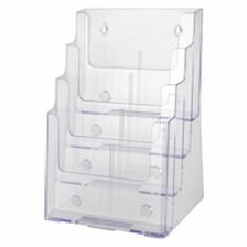 Four Tier Literature Holder