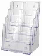 Plastic Brochure Holder w dividers