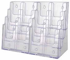 Plastic Brochure Rack 16 Pocket