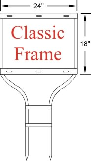 Round Rod Classic Sign Frame