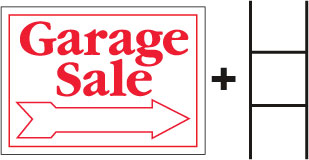 Garage Sale Sign With Stand