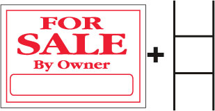 FOR SALE By Owner Sign With Stand