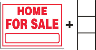 HOME FOR SALE Sign With Stand