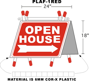 Plastic Open House Signs | Plastic A Frames | Plastic Sign