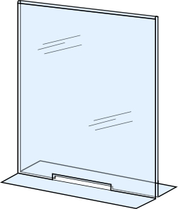 Acrylic Sneeze Guard Free Standing